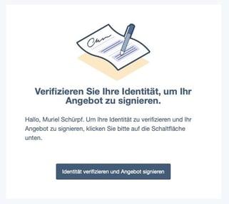 Identität verifizieren und Angebot signieren