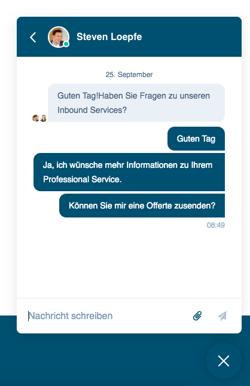 Kontaktaufnahme via HubSpot Chatflow