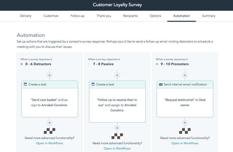 HubSpot Updates - Automation für NPS Umfragen basierend auf Ergebnissen
