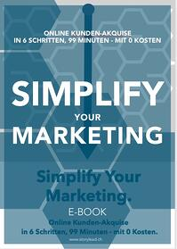 Simplify your Marketing E-Book Storylead